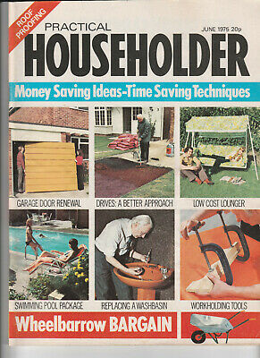 PRACTICAL HOUSEHOLDER Magazine June 1975 - Garage Door Renewal, Drives