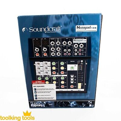 Sound Mixer Soundcraft Notepad 102 Pro Series  band PA GB Eq Brand new