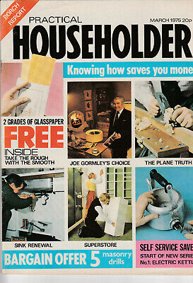 PRACTICAL HOUSEHOLDER Magazine March 1975 - Planes, Sinks, Superstores