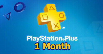 1 Month PlayStation PS Plus PS4-PS3 -Vitaa ( NO CODE )