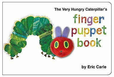 The Very Hungry Caterpillar Finger Puppet Book by Eric Carle, NEW Book, FREE & F