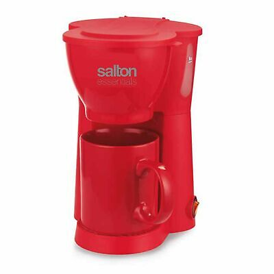 Salton Essentials Coffee Maker Compact 1 Cup Red