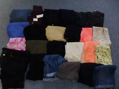 Bundle of 25 x Size 10 Ladies Trousers, Jeans, Shorts & Skirts