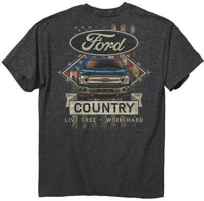 FMC Camo Country Ford Motor Company Live Free Work Hard American T Shirt 2580