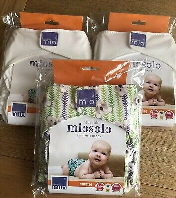 Bambino Mio Solo Miosolo Birth To Potty Pocket Cloth Reusable Nappy 3 Pack