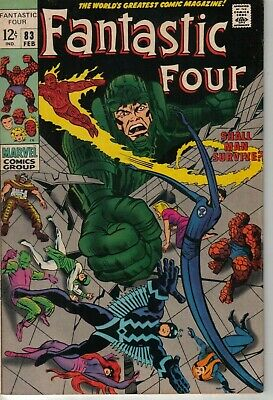 Fantastic Four #83 Marvel Comics Silver Age 1969 W: Stan Lee A: Jack Kirby