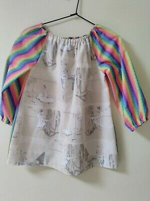 HandmadeKids Ballerina COTTON  Art Smock Girls 4-7