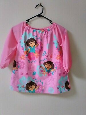 Handmade Dora Art Smock 2-3 With  Thermal Backing For Extra Protection Kids