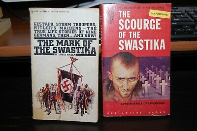 "2 Paperbacks on WW2 ""The Mark of the Swastika"" & ""The Scourge of the Swastika"