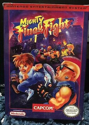 Mighty Final Fight Reproduction Box Only NES Nintendo No Game