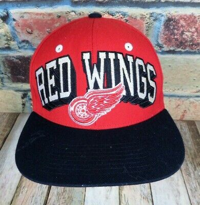 save off 8d973 ae078 NHL Detroit RED WINGS Zephyr Snapback Cap Hat Adult One Size Adjustable