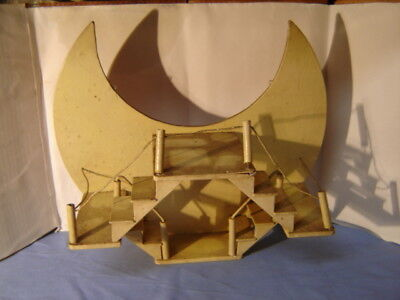 Vintage Arts & Crafts Hanging Half Moon Nic Nak Shelf Wall Decor