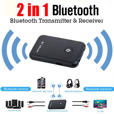 2 in 1 Wireless Bluetooth V4.2 Audio Transmitter +Receiver for MP3 MP4 TV PC AU