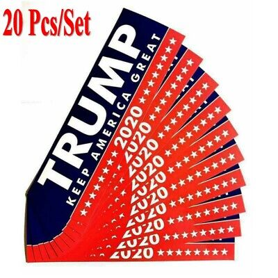 20PCS Donald Trump President 2020 Bumper Sticker Keep Make America Great FW