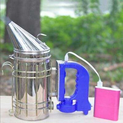 Rechargeable Electric Beekeeping Smoker Bee Farm Smoke Treatment Stainless Steel