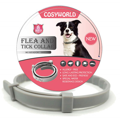 COSYWORLD Dogs Flea and Tick Collar - 8 Months Protection for Dog and Puppies -