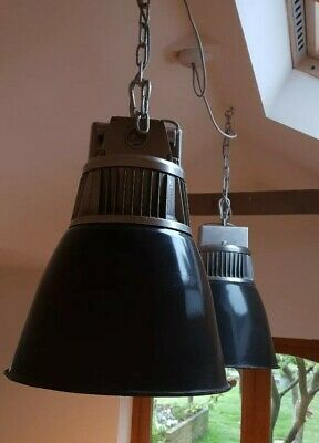 Vintage Flared Czech Industrial Pendant Light