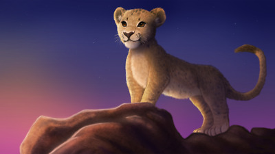 Movie The Lion King 2019 Simba Silk Poster 24 X 14 inch Wallpaper