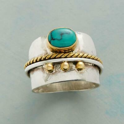 Vintage Women 925 Silver Turquoise Gem Ring Engagement Wedding Jewelry Sz6-10