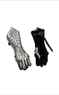 Halloween Nazgul Gauntlet Silver Steel Medieval Armor Lord Of The Rings Lotr