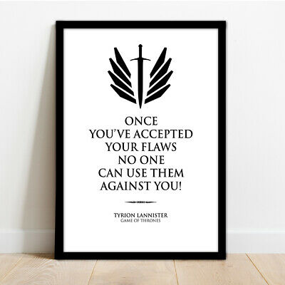 Game Of Thrones Quote - Framed Wall Art Print Poster!