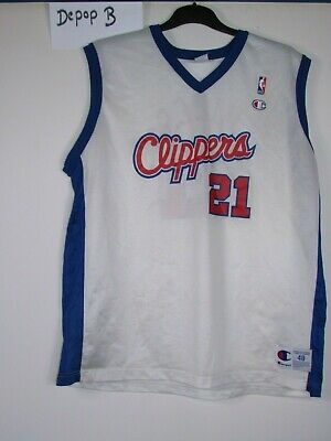 18b861fbe4c vtg 90s 00s champion La Los angeles clippers NBA basketball shirt jersey XL