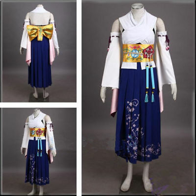 Final Fantasy X 10 Yuna Summoned Deluxe Cosplay Costume Full Set