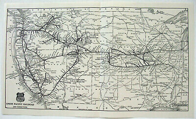 Original 1939 Map of the Chicago North Western Railroad by Poole Bros. Vintage