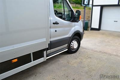To Fit 2014+ Ford Transit MK8 Chassis Cab Tipper Van Side Bars Steps Tubes Skirt