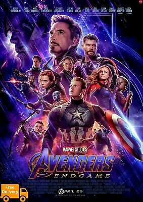 PacPrints buy1get1free A1(61cm x 91cm) Avengers endgame movie poster 2019v2