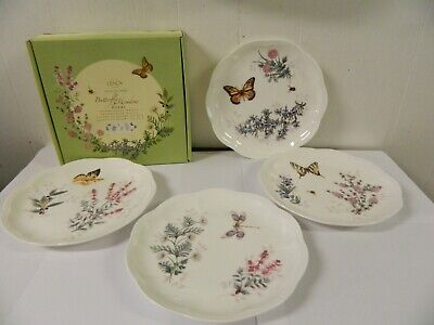 Lenox Erfly Meadow Set Of 4 Accent Salad Or