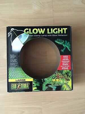 Exo- terra Large Glow Light Porcelain Clamp Reptile Lamp Glow Reflector Box Only