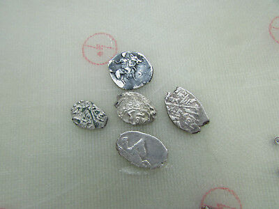 Lot of 5 coins Medieval silver coins