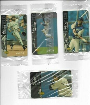 (4) VTG 1995  Upper Deck Ken Griffey Jr, Sheffield, Alomar Prepaid Phone Card