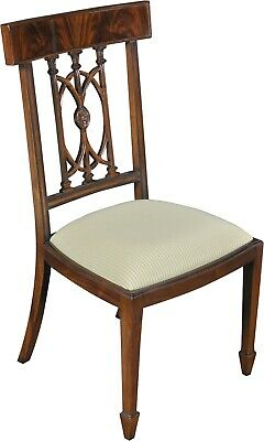 Side Chair Dining Hepplewhite Pair Mahogany New Ng-64