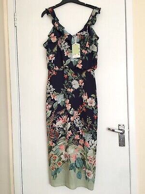 50471df08a4ae NEW Tag OASIS Dress Size 8 Summer Flowers Birds Party Coctail Wedding
