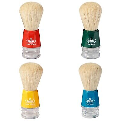 Omega 10018 Boar Hair Shaving Brush -Choose your Color- Imported From Italy