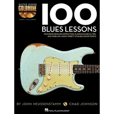 Hal Leonard 100 Blues Lessons Guitar Lesson Goldmine Series Softcover With CD
