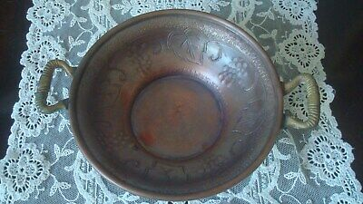 Vintage 1920's Arts and Crafts Movement  Copper Bowl Art Nouveau