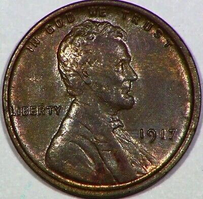 1917 P Lincoln Head Wheat Cent 1C Some Mint Luster Nice Looking Penny ..D27