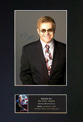 "ELTON JOHN ""ROCKETMAN"" - RARE Signed / Autographed Mounted Photograph - MINT"