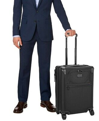 """NEW Tumi Alpha 2 Continental 22"""" Expandable 4 Wheeled Carry On Luggage - Black"""