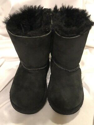 7be9b16a972 UGG AUSTRALIA INFANT Girls CASSIE LEOPARD Boots SIZE 2/3 Pre Owned ...