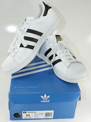 sports shoes 43629 d2559 Men s Adidas Superstar Shoes, white with black stripes size 11 with Box