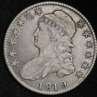 1819/8 Capped Bust Half Dollar CHOICE VF+/XF FREE SHIPPING E299 ACNM