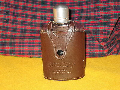 Vintage Cutty Sark Blended Scotch Whiskey Glass Flask Leather Exce. Condition