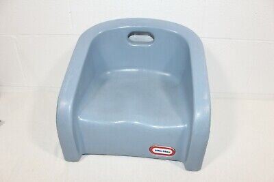 Vintage Little Tikes Toddler Kid Booster Seat Child Chair Blue w/ Handle
