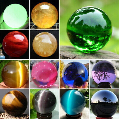 Natural Quartz Magic Gemstone Sphere Crystal Reiki Healing Ball Stone Lot