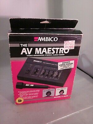 New Ambico Av Maestro V-0629 Video Enhancer/stereo Audio Mixer Boosts Video Sign Buy One Get One Free Audio For Video