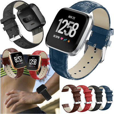 Genuine Leather Replace Wristband Watch Band Strap Bracelet For Fitbit Versa New
